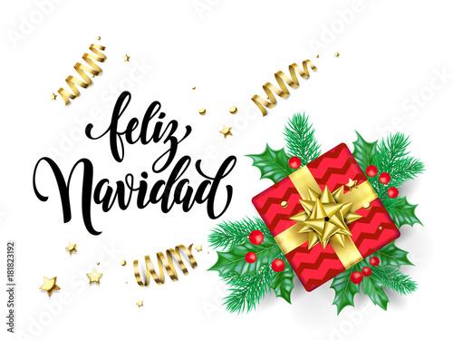 Feliz navidad spanish merry christmas holiday hand drawn calligraphy feliz navidad spanish merry christmas holiday hand drawn calligraphy text for greeting card background design template m4hsunfo