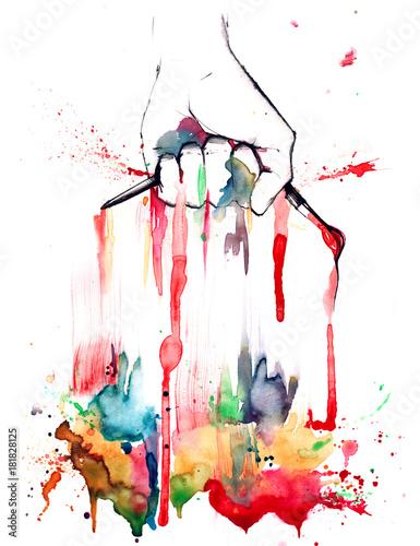 Deurstickers Schilderingen artist