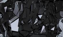 3D Rendering Of Abstract Dark ...
