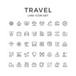 Set line icons of travel
