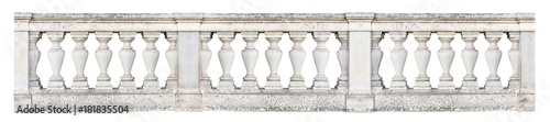 Papel de parede Baroque balustrade (isolated on white background)