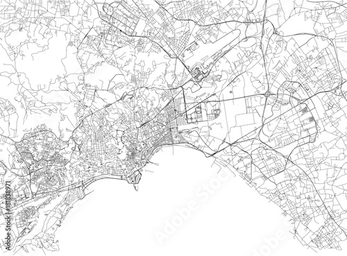 Stradario Campania Cartina.Strade Di Napoli Cartina Della Citta Campania Italia