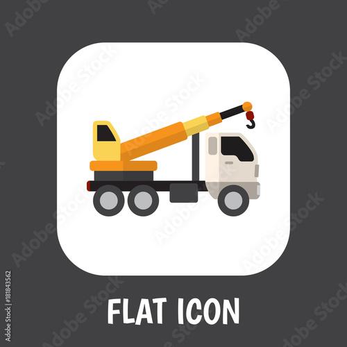 Fotografie, Obraz  Vector Illustration Of Vehicle Symbol On Crane Flat Icon