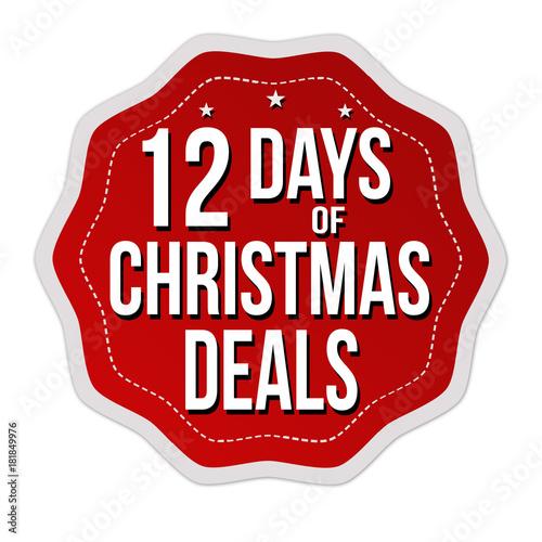 Papel de parede  12 days of Christmas deals label or sticker