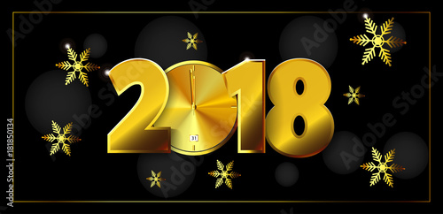 eps 10 vector 2018 calendar cover for web print design happy new year