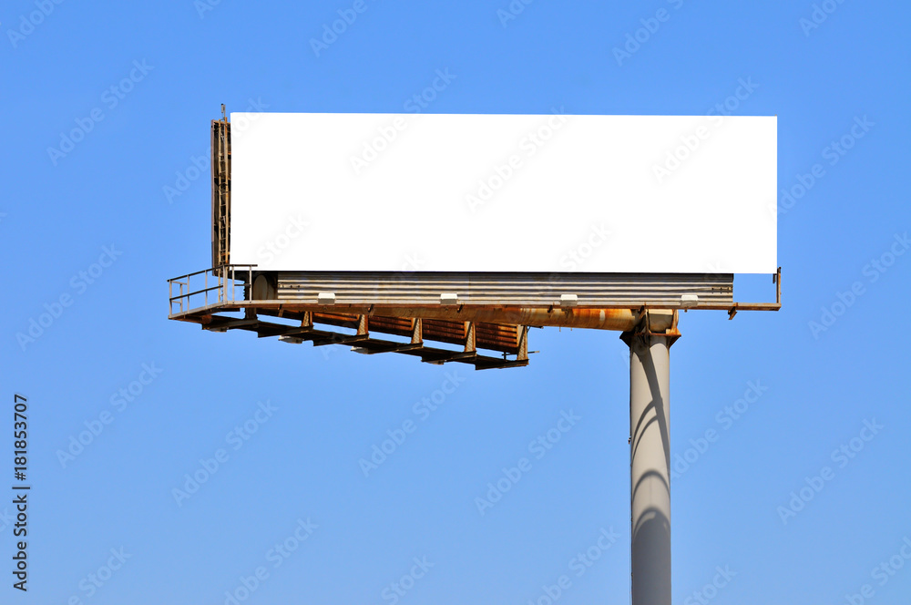 Fototapety, obrazy: Large Billboard On Clear Blue Sky