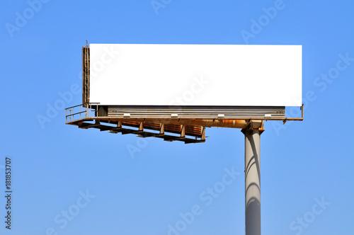 Fotomural  Large Billboard On Clear Blue Sky