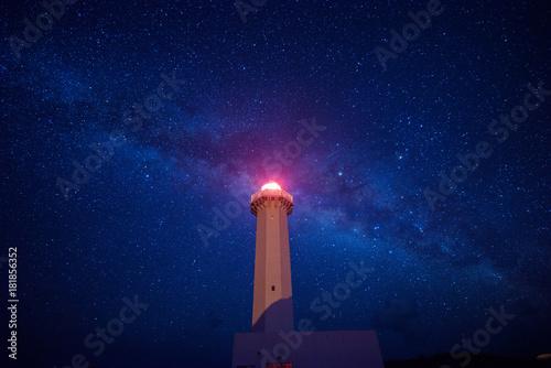 Fototapeten Leuchtturm 東平安名崎 灯台