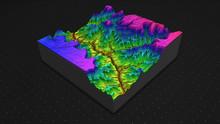 3D Render Of Geology, Soil Sli...