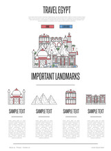 Egypt Travel Infographics With...
