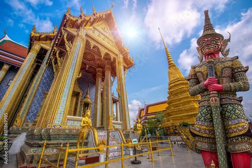 Wat Phra Kaew, Temple of the Emerald Buddha Wat Phra Kaew is one of Bangkok's mo Canvas Print