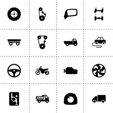 Simple 16 Set Of Drive Filled Icons