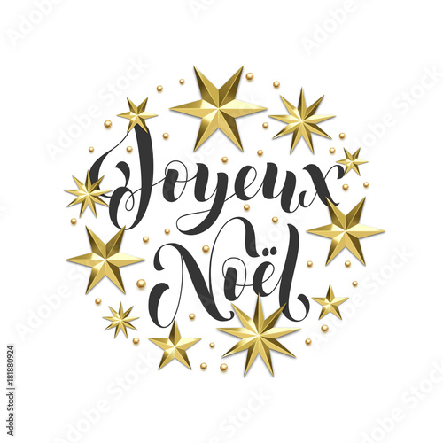 Joyeux noel french merry christmas golden decoration calligraphy joyeux noel french merry christmas golden decoration calligraphy font for greeting card or invitation white stopboris Gallery