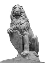 Sculpture Of A Lion With The A...