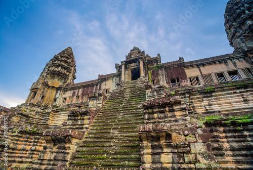 Plakat Starożytnego zamku Kambodży