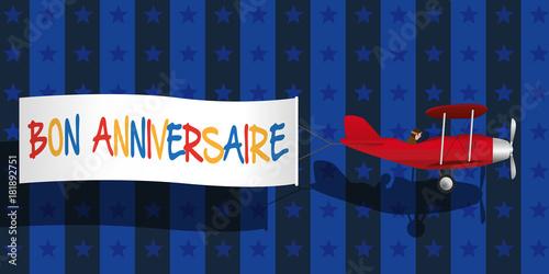 Anniversaire Fête Message Invitation Carte De Vœux