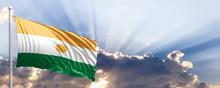 Niger Flag On Blue Sky. 3d Ill...