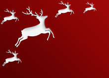 Christmas Red Background Of Re...