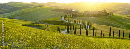 Printed kitchen splashbacks Tuscany Landscape in Tuscany, Italy