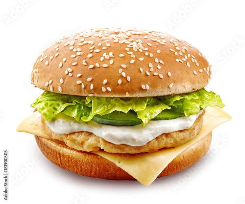 fresh chicken burger
