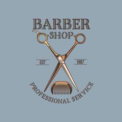 Fototapeta Barber Shop logo