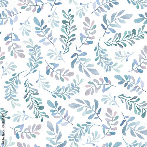 akwarela-bezszwowe-wzor-z-niebieskie-i-zielone