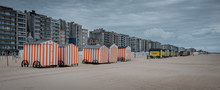 Row Of Vinage Beach Huts