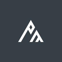 Initial Letter PM Design Logo
