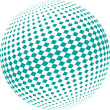 Ball In Checkered Pattern On A...