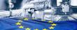 Leinwanddruck Bild - Industrie in Europa