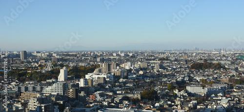 日本の東京都市景観「練馬区などを望む(画面右奥には、さいたま新都心などが見える)」 Fototapet