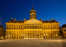 Royal Palace On The Dam Square In Amsterdam