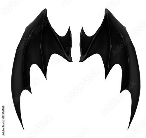 Naklejka premium czarne ciemne skrzydła demona 1 nietoperz wampirów