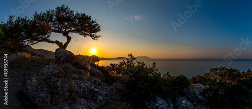 Deurstickers Zwart Beauty nature landscape Crimea