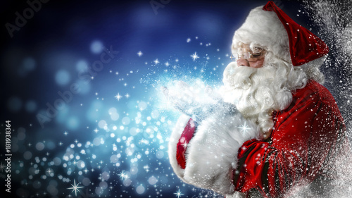Photo  Santa Claus and magic time