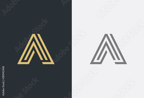 Photographie  Abstract letter A logotype