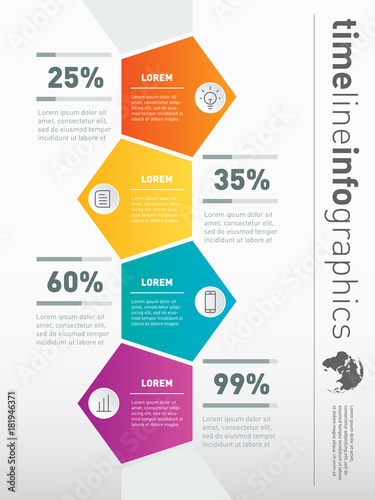 Vector Infographic Of Technology Or Education Process With  Steps  Part Of The Report Web Template For Vertical Diagram Business  Presentation Concept With  Options