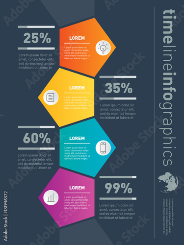 Vector Infographic Of Technology Or Education Process With  Steps  Vector Infographic Of Technology Or Education Process With  Steps Web  Template For Vertical Diagram
