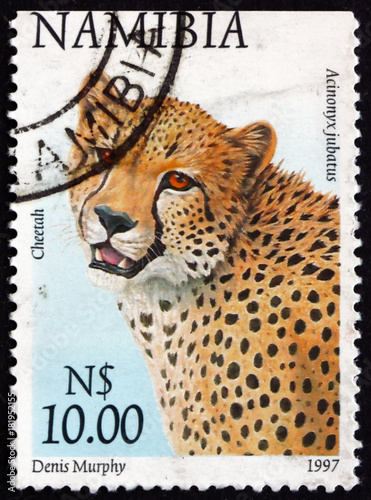 Postage stamp Namibia 1997 cheetah, acinonyx jubatus, animal