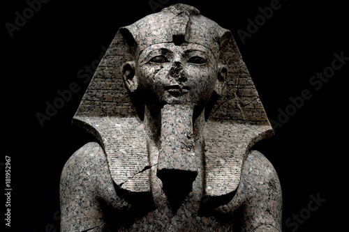 Photo  Pharaoh egyptian god dead religion symbol stone statue