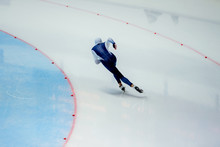 Male Athlete Speed Skater Skat...