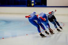Back Three Women Athletes Spee...