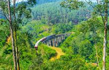 The Train On Nine Arch Bridge,...