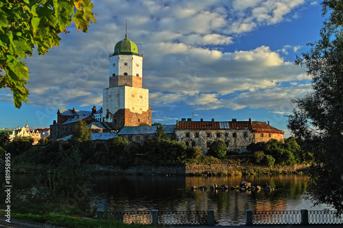Vyborg castle on island Poster