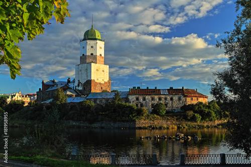 Vyborg castle on island Poster