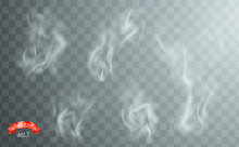 White Cigarette Smoke Waves. W...