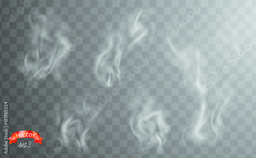 White cigarette smoke waves Wallpaper Mural