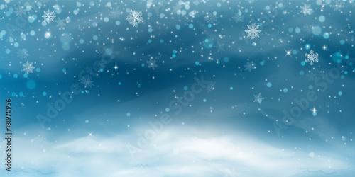 Photo Snow background