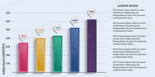 Fotografía  Business infographic template.