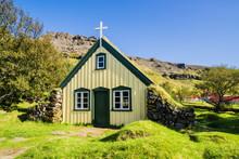 Hofskirkja, Typical Icelandic Church, Iceland